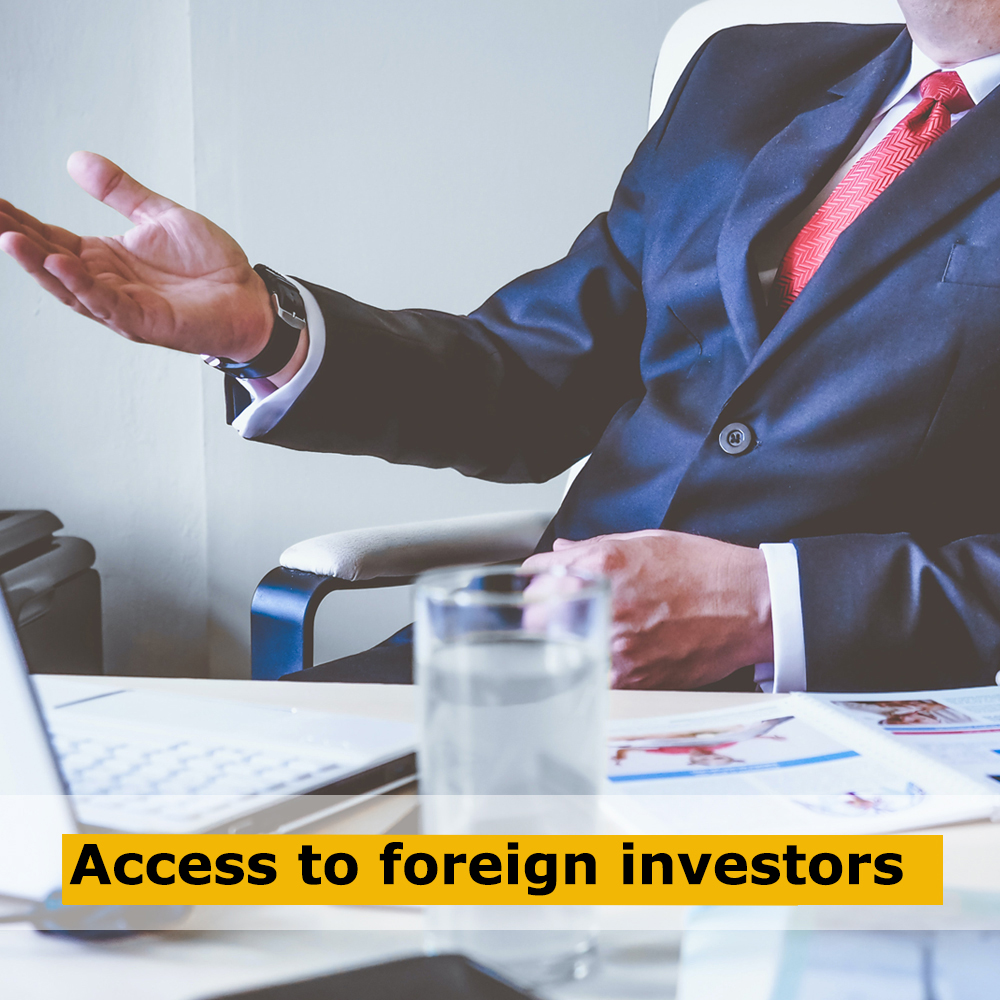 Access to foreign investors (1)