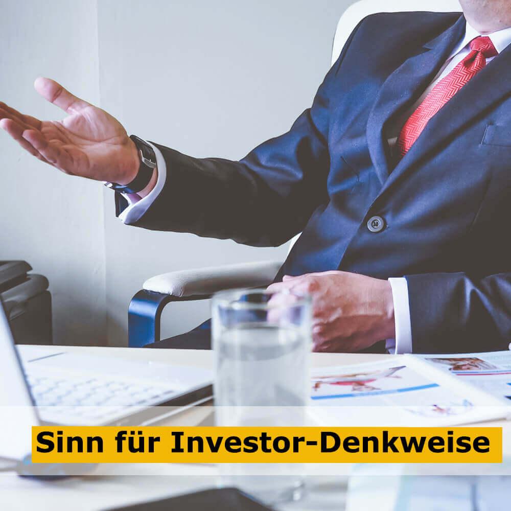 Sinn für Investor-Denkweise